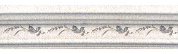 BLB028 Бордюр Багет Кантри Шик белый декорированный