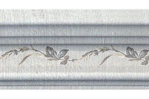 BLB029 Бордюр Багет Кантри Шик серый декорированный