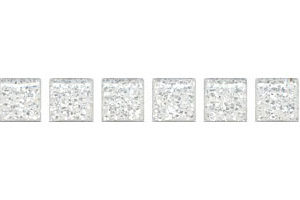 POF001 Карандаш Бисер белый серебро